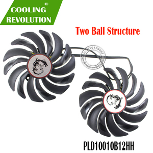 Image 1 - 2PCS PLD10010B12HH DC12V 0.40A 4PIN FOR MSI GTX1080Ti 1080 1070 1060 RX470 480 570 580GAMING Graphics Card Cooler Fans PLD10010S