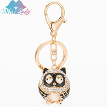 Miss Lady Creative cute owl alloy Key chain Car Girls fashion bags Trinket Bag Pendant Ornaments Key Chain keyrings MLC3799