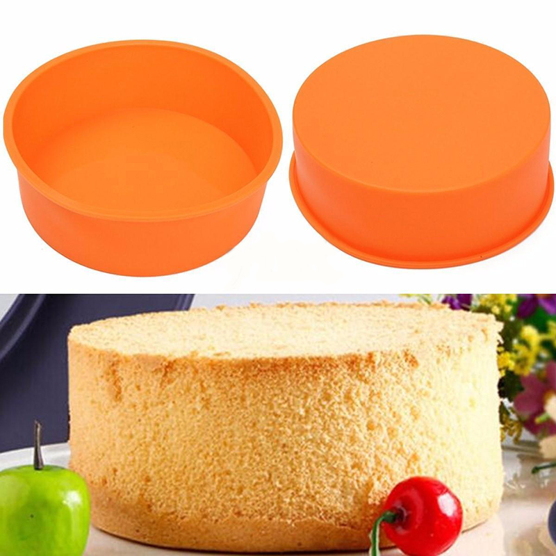 In Round Cake Pan Silicone