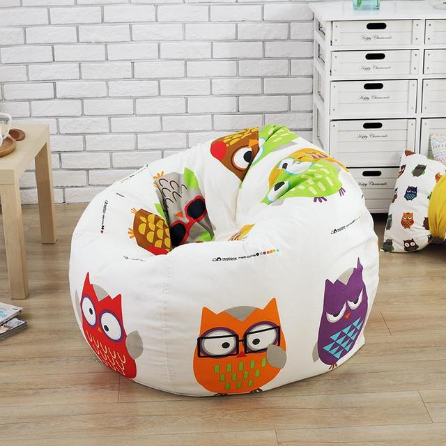 The Owl Style Bean Bag Chair Garden Camping Beanbag Cover Lazy Sofa Anywhere Portable Sitting