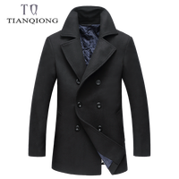 Winter Wool Jacket Men Extra Long Mens Cashmere Jackets and Coats Fashion Single Breasted Overcoat Casual Slim Woolen Pea Coat