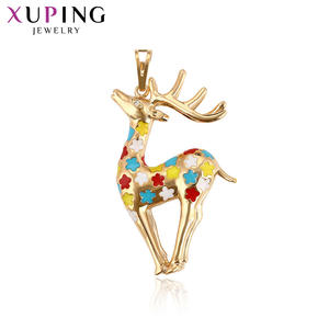 Xuping Fashion Jewelry Lovely Vintage Essential Sika Deer Shape Pandent of Trendy Animals for Women Graduation Gift S137.2-32779