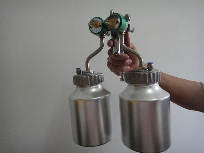 SAT1200 topeltdüüsiga pihustuspüstol matt-matt-autovärvi - Elektrilised tööriistad - Foto 2
