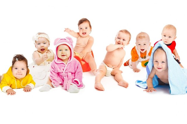 Roup Of Cute Little Babies Baby Fabr Silk Poster Print Home