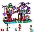 BELA Elfos Elfos Treetop Escondite Kits de Bloques de Construcción Ladrillos Modelo Juguetes Marvel compatible con legoe