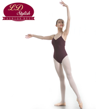 Girls Brown Ballet Leotards Female Competition Dance Skirt Stage Performance Gymnastic Dancewear Adults Practice Clothing