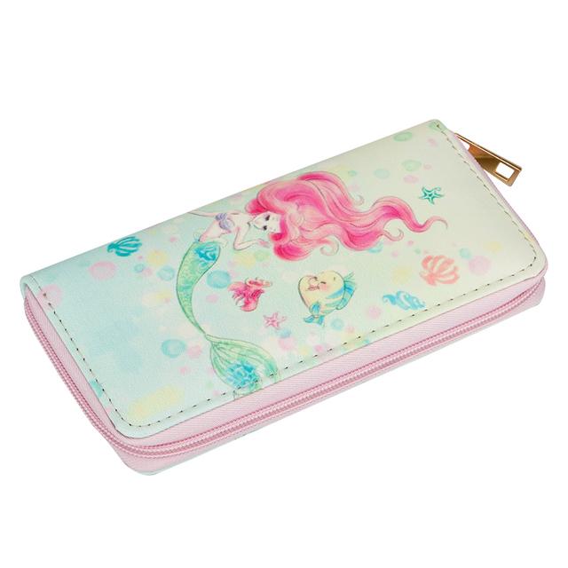 Lovely Mermaid Printed Leather Girl's Wallet