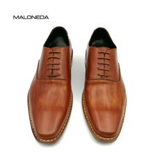 цены MALONEDA Custom Handmade Goodyear Welted Shoes 100% Genuine Leather Lace-up Dress Shoes Mens Oxford Wedding Party Shoe