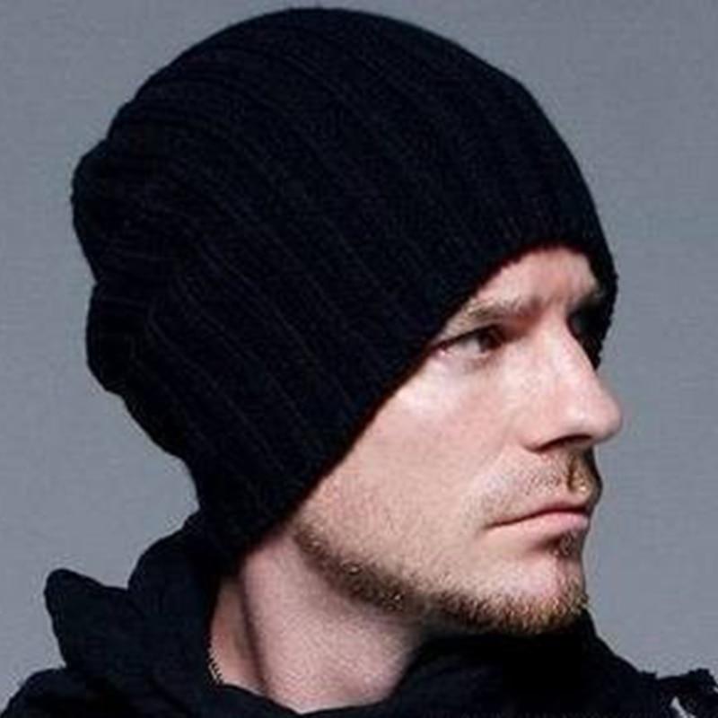 Hot Sale Winter Casual Hip Hop   Beanies   Men Knitted Bonnet Hats For Men\'sCrochet Warm Cap