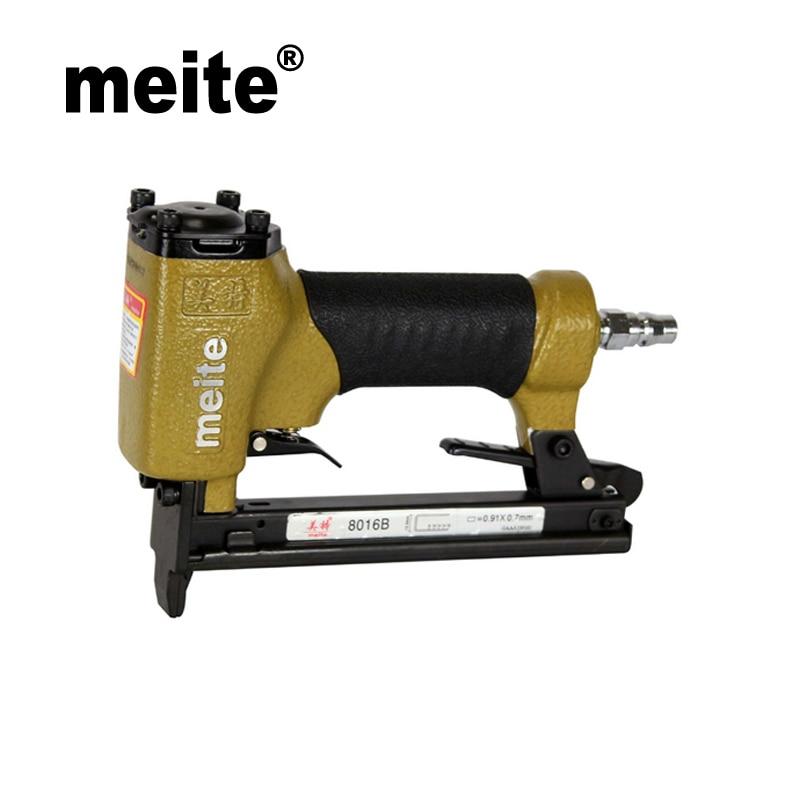 Meite 8016B High Quality Pneumatic stapler nailer gun u-type stapler air tools for make sofa / furniture June.23 Update Tool high quality meite f32 pneumatic nail gun air stapler gun nailer tools for decoration leather shoes