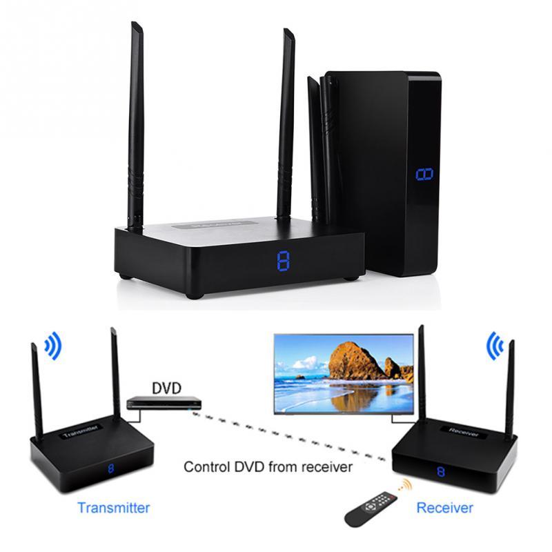 Hot Sale 5.8GHz 350M Wireless HDMI Transmitter Sender Receiver Audio Box TV Sender HDMI 1080P 60fps Dual-antenna Design #1108 цена и фото