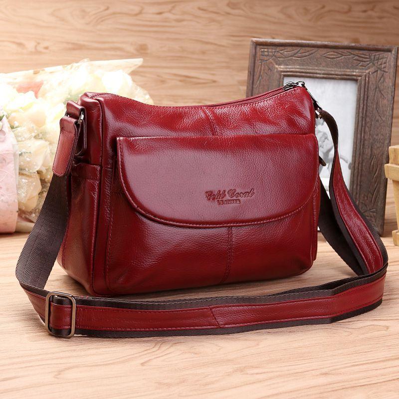 цена на Women Genuine Leather Handbags Fashion Cow Leather Messenger Shoulder Bags Bolsas Feminina High Quality Phone Bag