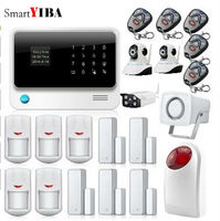 SmartYIBA Android App Russian Spanish French WIFI GSM Alarm DIY Kits Outdoor Waterproof Camera For Home