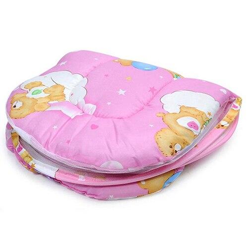 Складной Портативный маленьких путешествия москитная сетка кроватки кровать палатки с подушкой