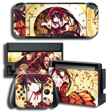 Vinyl Screen Skin Sticker DATE A LIVE  Skins Protector Stickers for Nintendo Switch NS Console + Controller + Stand Sticker