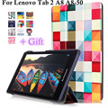 """With Tracking For Lenovo Tab 2 A8 A8-50 Tab2 A8-50F A8-50LC 8"""" tablet funda cases Color Painted Leather Case Flip Cover +Gift"""