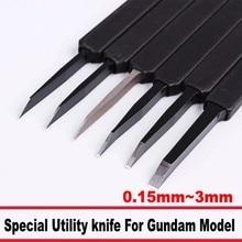 Модель строительного инструмента, универсальный нож, нож для резьбы, Бурин 0,15 мм~ 3 мм с фиксирующим инструментом для Gundam, модель здания