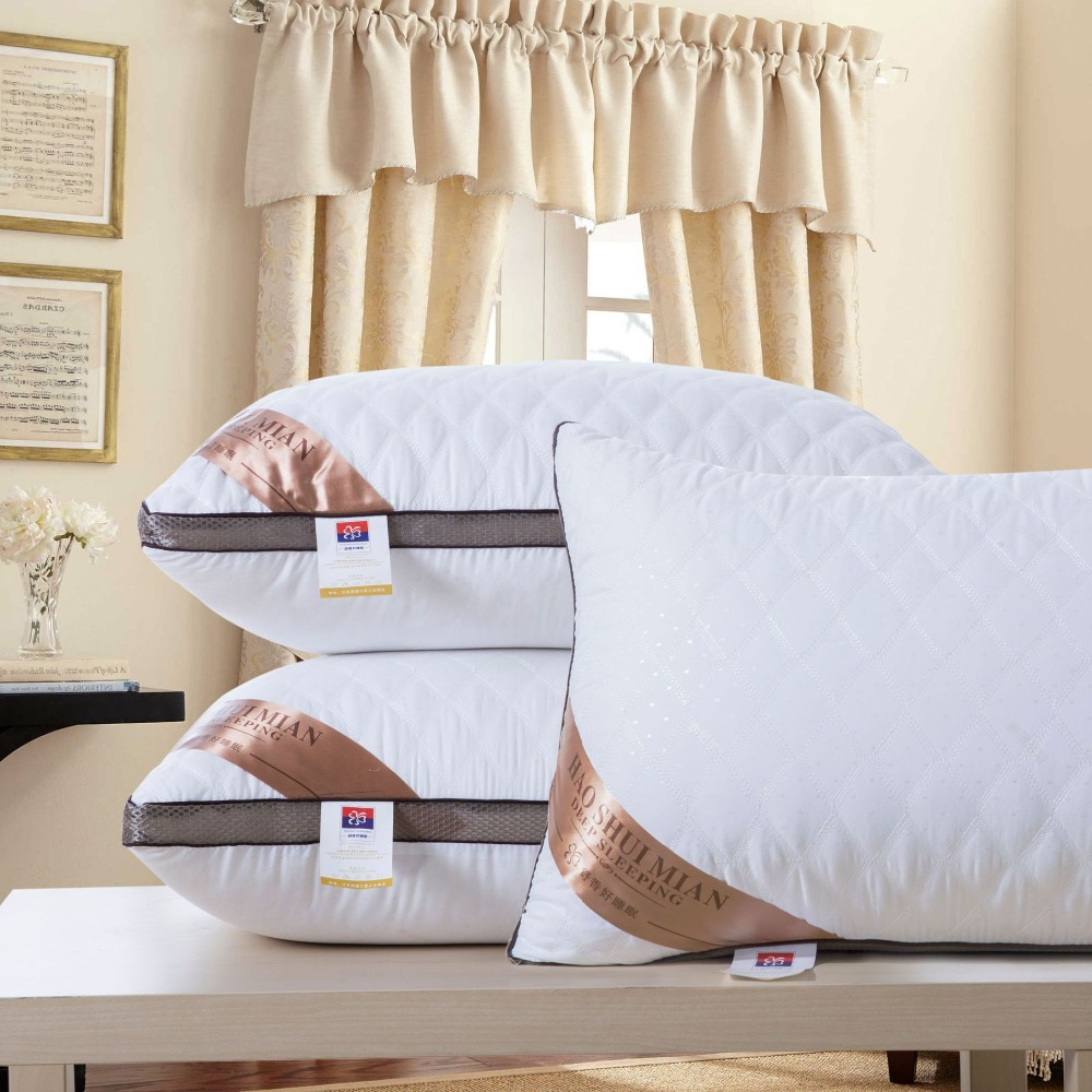High Quality 7 Star Hotel Standard Down Silk Pillow.Hotel Super Stretch Pillow.Neck Pillow Can Be Washed