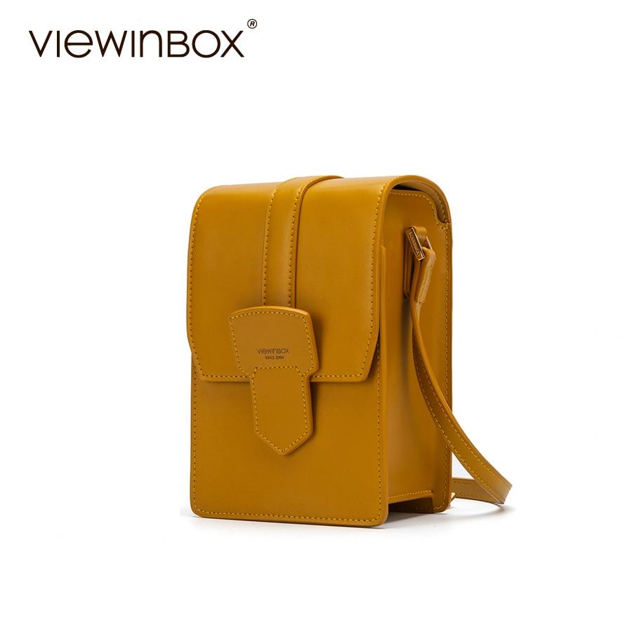 Viewinbox Split Leather Women Handbags Luxury Designer 2018 Chic Mini Messenger Shoulder Bag viewinbox vintage shoulder bag split leather casual women messenger handbags retro box case bag