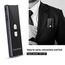T6 Akıllı Gerçek zamanlı Çoklu Dil Bluetooth Çevirmen Çeviri Cihazı 2.4G Kablosuz Bağlantı Iki yönlü gerçek zamanlı interkom