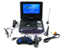 Free shipping !100% Cheapest 7.8 inch Portable Home DVD Player with 3D FM Radio HD RMVB Display
