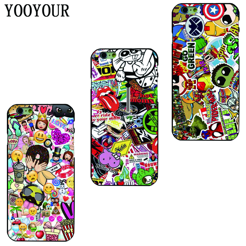 Image for Vans Off The Wall Logos Black Hard Shell For Apple iphone 4 4s 5 5s SE 5c 6 6S 6PLUS 7 7PLUS