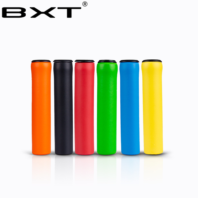 MTB Soft Foam Silicone Handle Bar Grips Mountain Bike Handlebar Grips 1Pair Free shipping yellow red green orange blue black