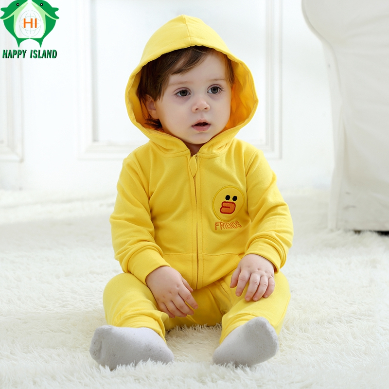 HAPPY ISLAND Newborn Baby Rompers Baby Boy Clothes Jumpsuit Baby Girl Animal Romper Baby Warm Romper Newborn Kid Clothes Pajamas baby girl boy romper tiny cottons white gray long sleeve angel wings baby clothes newborn jumpsuit rompers baby onesie costume