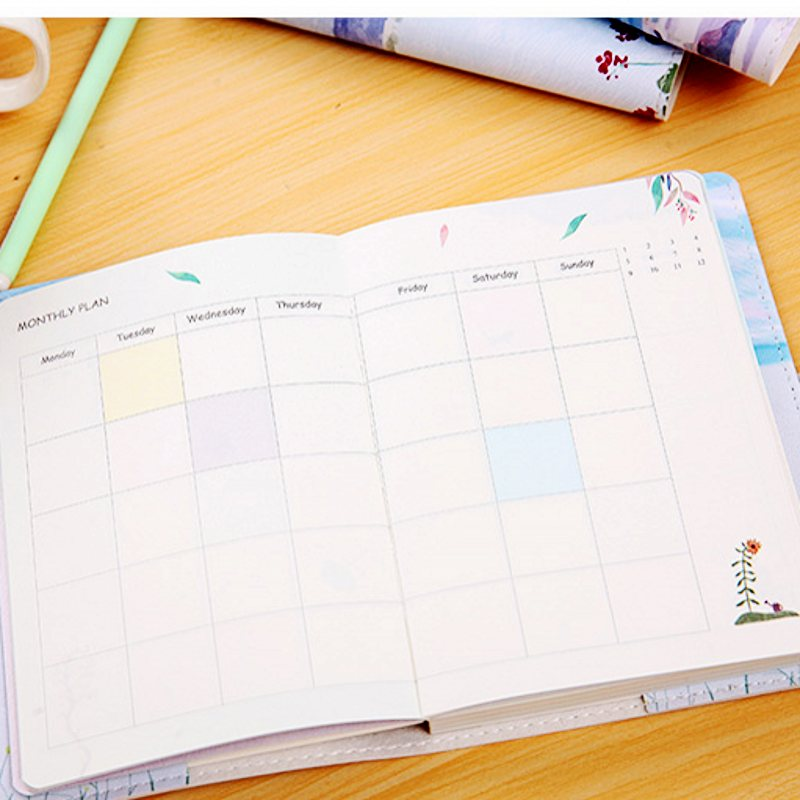 Kreativ koreanische Briefpapier Blank Leder Notebook Tagebuch ...