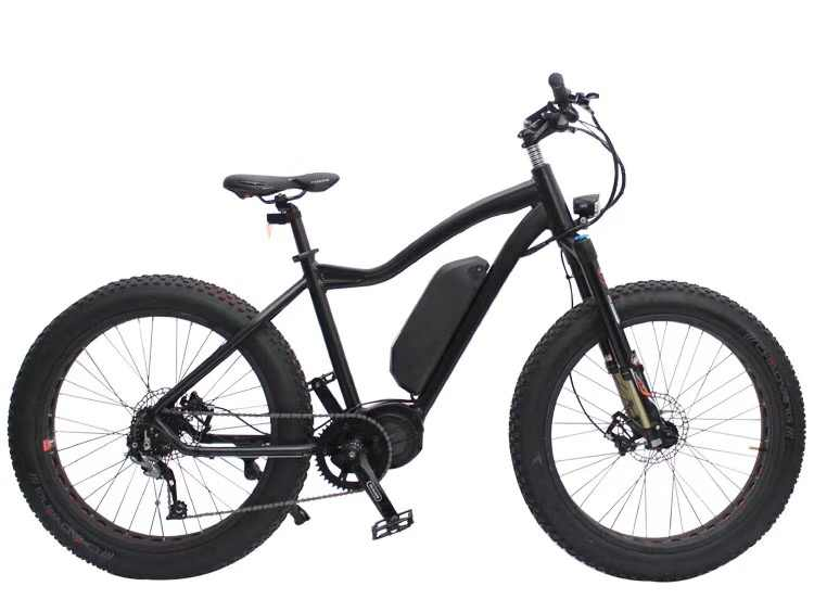 92be7534a0b Custom 26inch Snow Ebike 48V 1000W Bafang mid motor electric mountain  bicycle smart lcd fat ebike