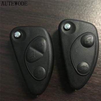 AUTEWODE-carcasa de llave de coche para Alfa Romeo 147 156 GT, cubierta...