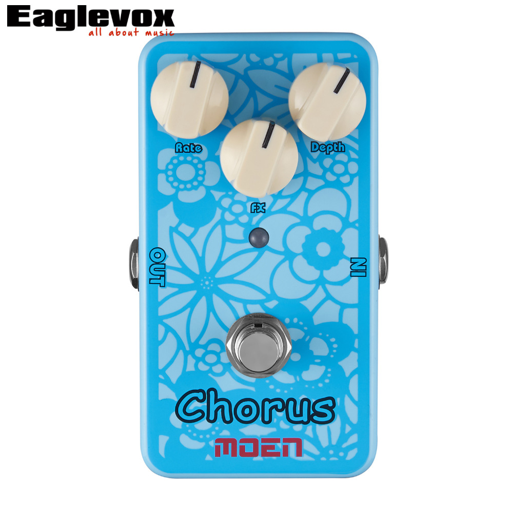 Moen Chorus Electric Guitar Effects Effect Pedal AC-CH True Bypass mooer ensemble queen bass chorus effect pedal mini guitar effects true bypass with free connector and footswitch topper