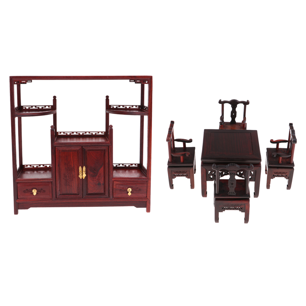MagiDeal 1/6 Wood Chinese Table Chairs, Tea Cabinet for Hot Toys Dolls HouseMagiDeal 1/6 Wood Chinese Table Chairs, Tea Cabinet for Hot Toys Dolls House