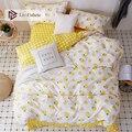Liv-Esthete Модный летний комплект постельного белья с лимоном  двуспальный комплект постельного белья  удобный пододеяльник  простыня  наволоч...