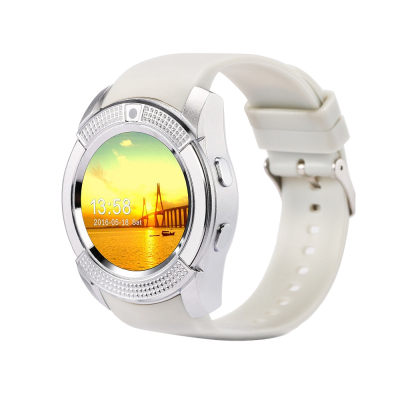 Sport Watch Unisex Bluetooth Smart Watch V8 Clock With SIM TF Card Sync Notifier Smartwatch For IOS Android Round Women& MEN Wa mymei android smart watch gt08 clock with sim card slot push message bluetooth connectivity phone better than dz09 smartwatch