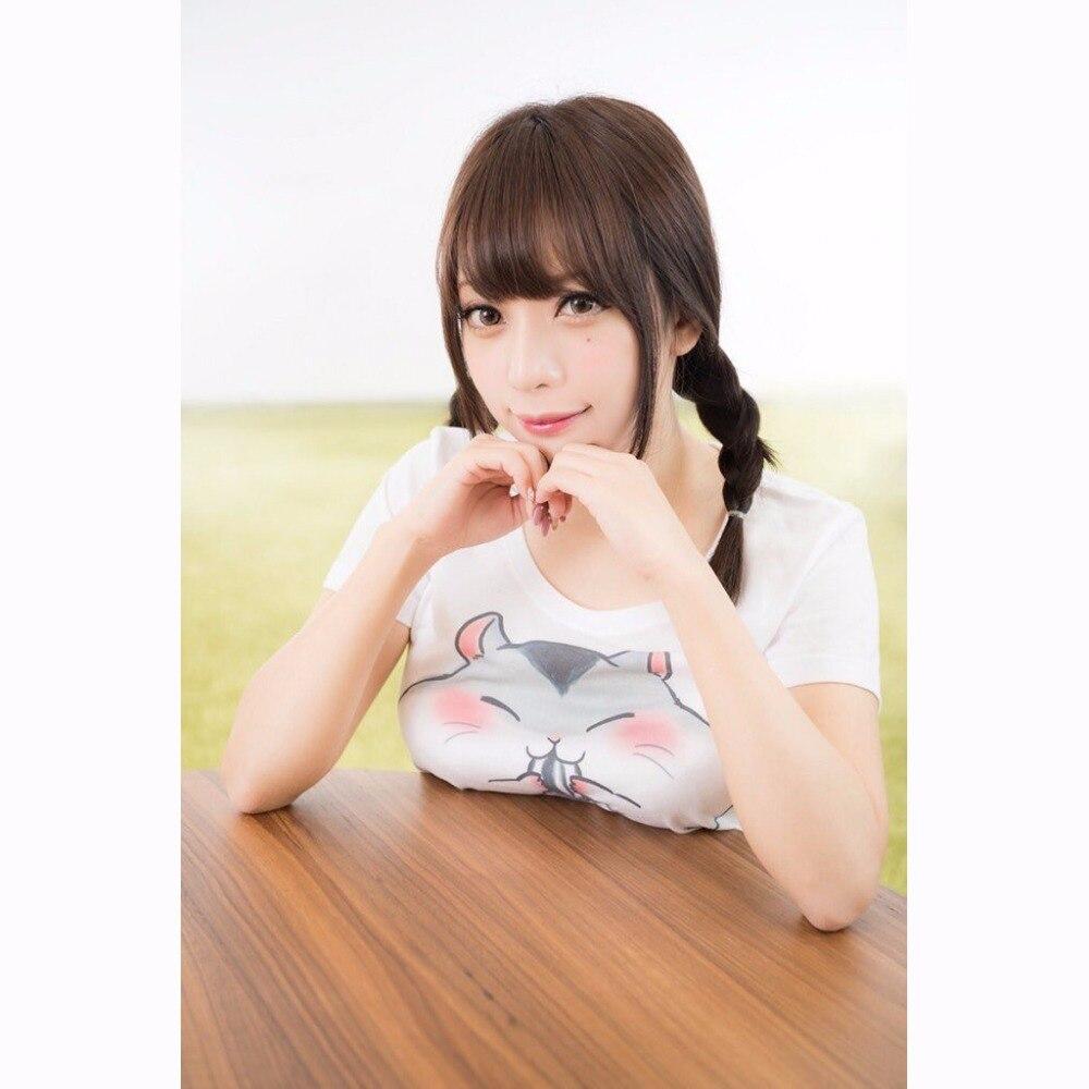 Kawaii Femmes T-shirt Hamster 2018 Vente D'été À Manches Courtes De Mode O Cou T-Shirt Harajuku Tops T-shirts Pour Lady z40