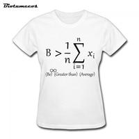 Women T Shirts Letter Print Short Sleeve 100 Cotton Math Formula T Shirt Brand Clothes Tee