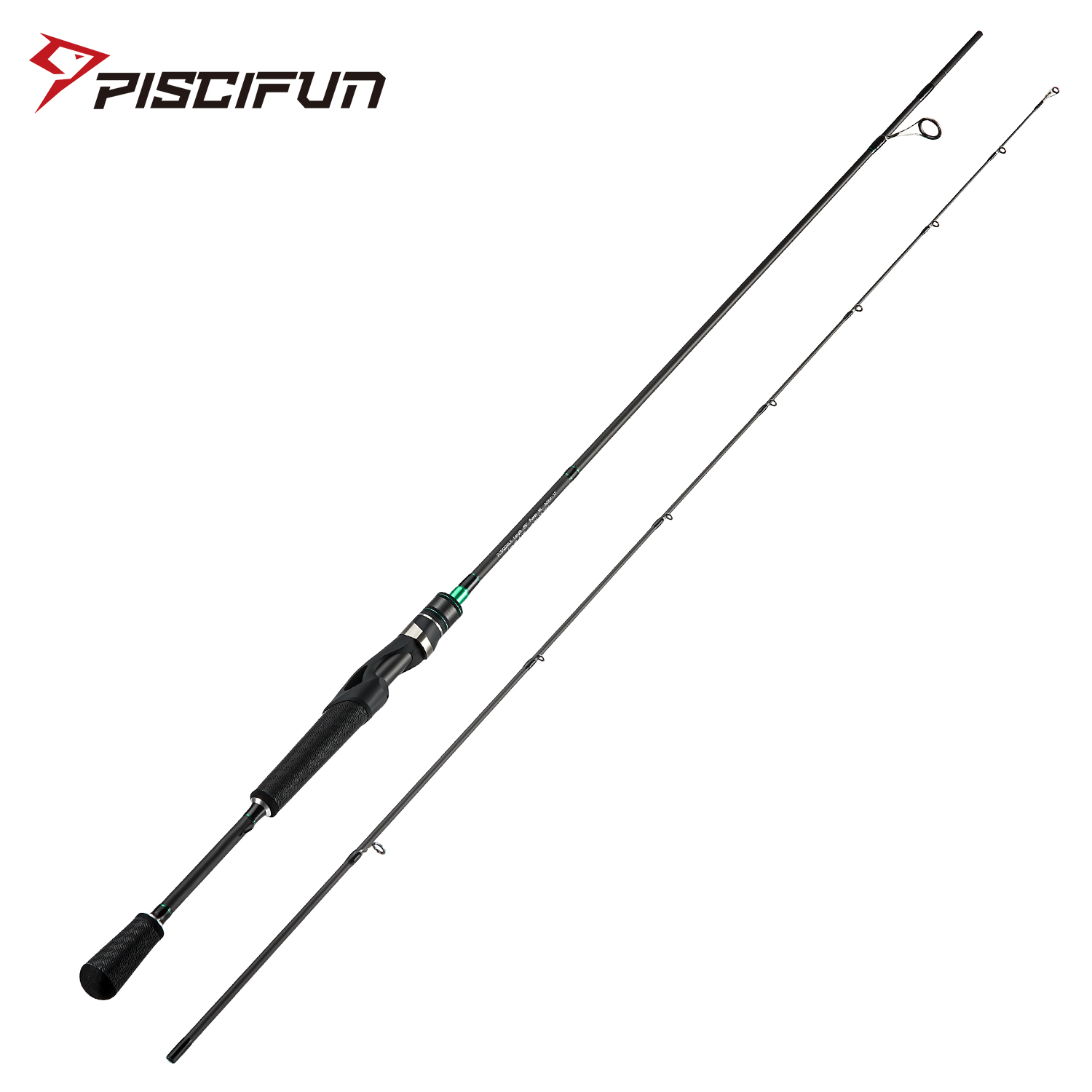 Piscifun Serpent Two Piece Spinning Rod IM7 Toray Carbon Fiber Fuji Guides Tournament Level Performance 2M