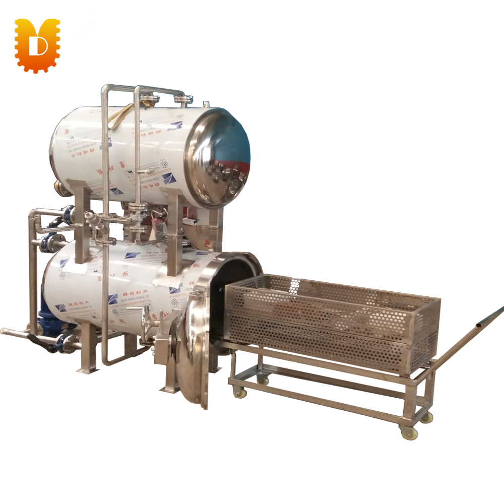 300kg/time Double Deck Canned Food High Pressure Autoclave Sterilizer Price