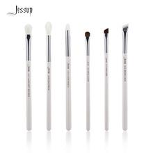 Jessup Pearl White/Silver Professional Makeup Brushes Set Make up Brush Tools kit Eye Shader Liner natural-synthetic hair