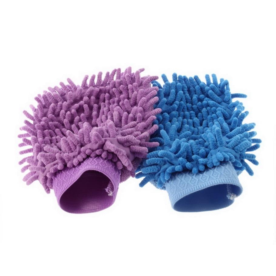 PREUP Sponges Cloths Brushes Mitt Microfiber Car Wash font b Gloves b font Washing Cleaning Anti
