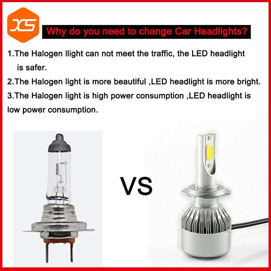 Aliexpress com buy 1 pair c6 led bulb led car headlight h11 cob 72w 6000k white h9 h8 h1 h3 fog light truck car head lamp h11 led bulbs from reliable
