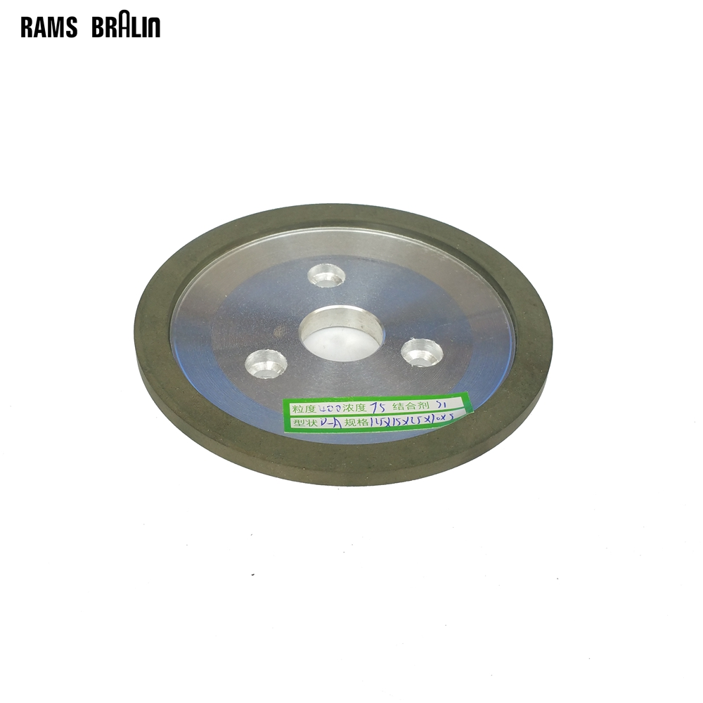 125*16*25*10*3/3mm Diamond Resin Abrasive Grinding Wheel 45 or 90 degree optional 75% concentration parallel resin diamond grinding wheel alloy wheels abrasive superhard materials 200 60 10 10
