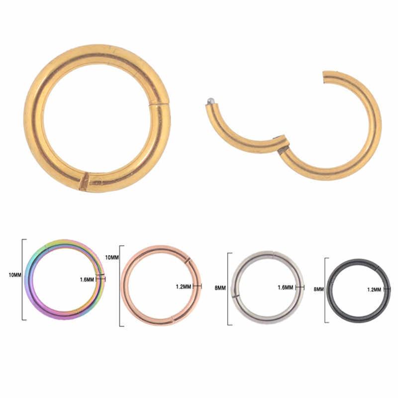 1pc 316l Surgical Steel Nose Rings Nostril Septum Cartilage Ear