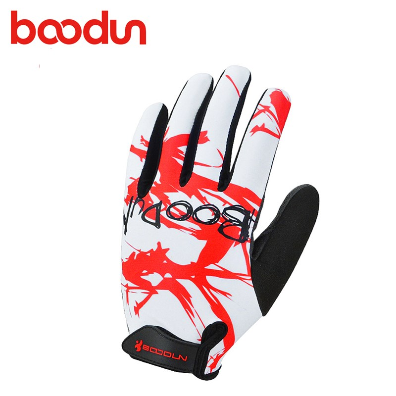 Boodun Spring Sunscreen Men Women Cycling Long Finger Motorcycle Sports Gloves Breathable Comfortable MTB Road Riding Gloves