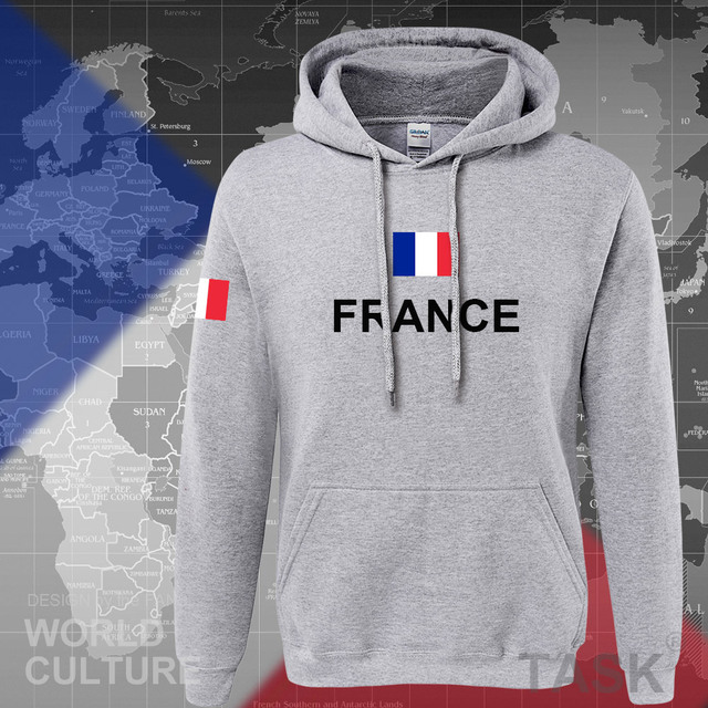 France hoodies men sweatshirt sweat new hip hop streetwear clothing jerseys FRA loose tracksuit nation French flag fleece FR 5