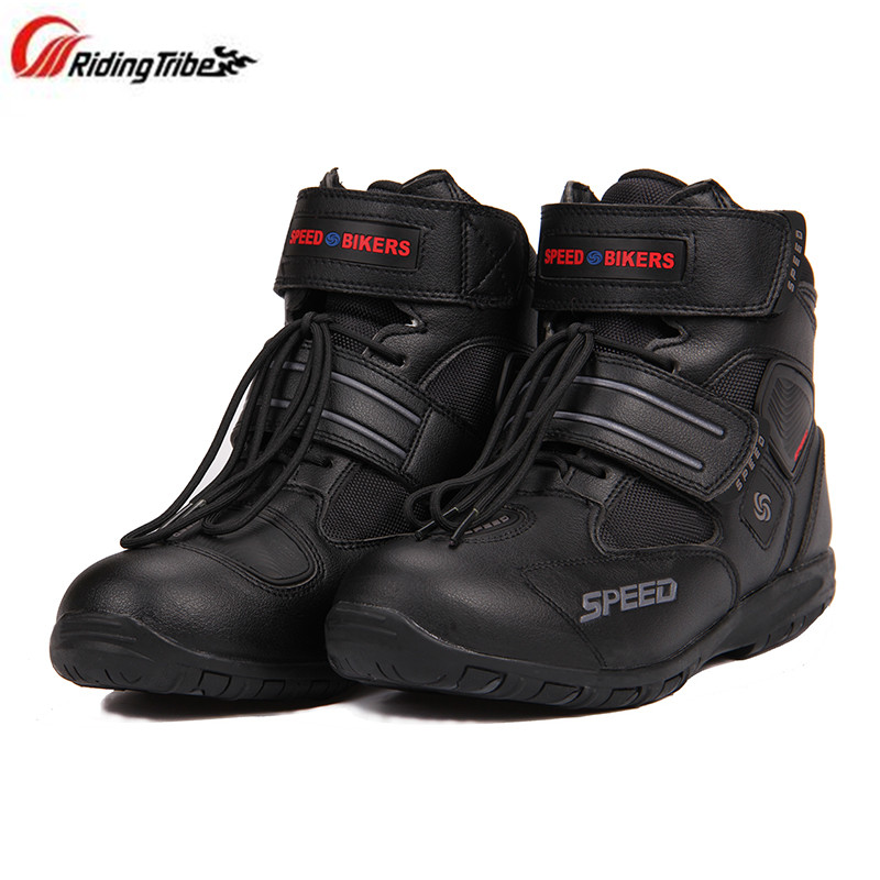 Riding Tribe Moto Racing Protector Motorcycle Boots Pro Biker SPEED Boots For Motorcyle Racing Motocross Boots pro biker mcs 01a motorcycle racing full finger protective gloves blue black size m pair