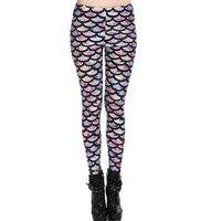 Black Milk Fashion Scale Piece Printed Leggings Pants Pencil Pants Female Feet AliExpress Designed For A