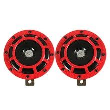 Bocina de rejilla de coche doble Supertone (PAR) 12V 139dB para Subaru Impreza WRX Evo nuevo (rojo/negro)