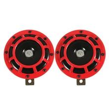 Supertone כפולה רכב סורג צופר (זוג) 12V 139dB עבור סובארו אימפרזה WRX Evo חדש (אדום/שחור)